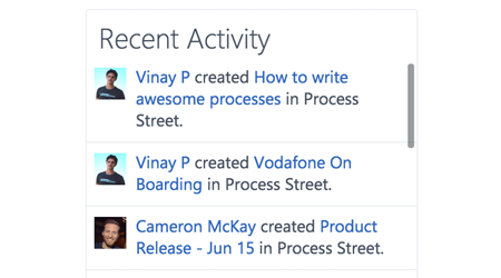 Track workflow activity from inside Yammer