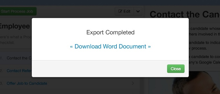 process documentation template word .