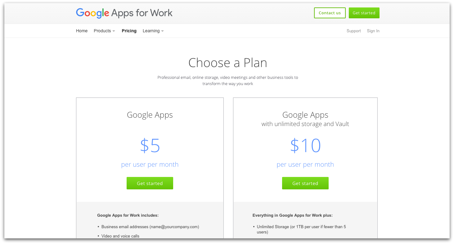 Google Apps Pricing-d