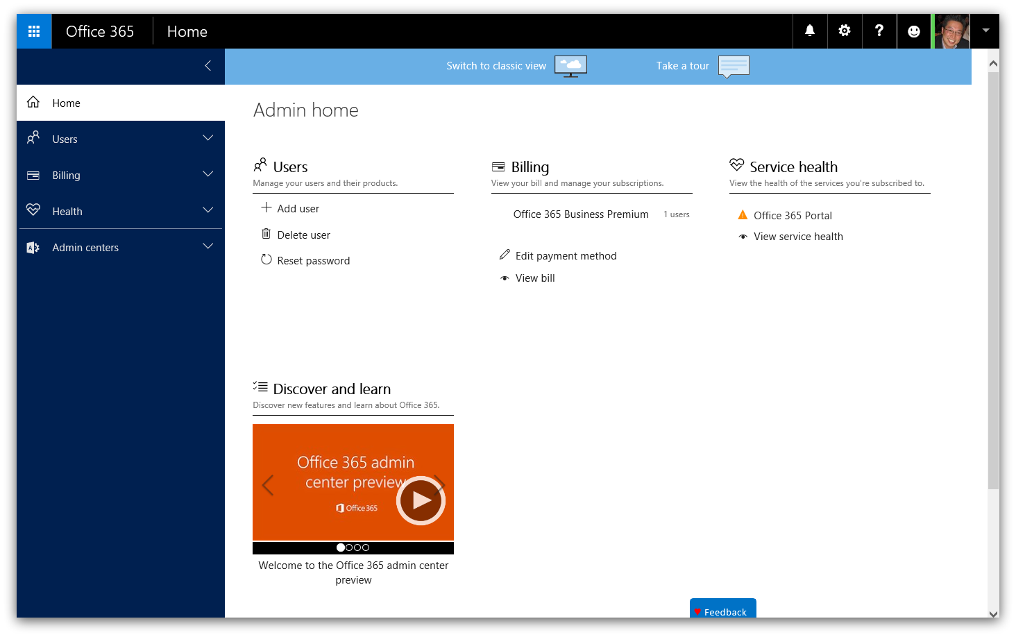 Office 365 Admin Center-d