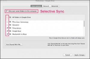 selective sync