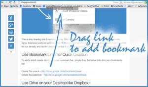 Quick Google Drive Bookmark Links