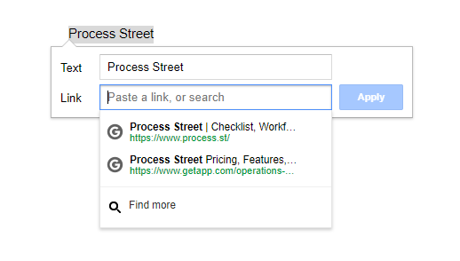 google drive tips linking process street
