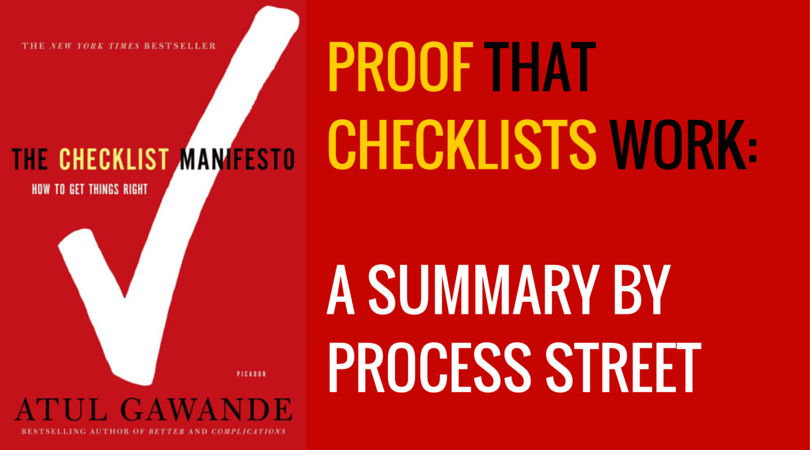 Checklist Manifesto Summary Header