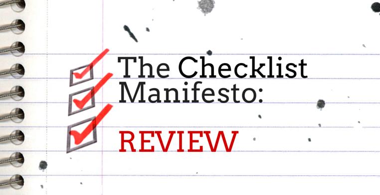 The Checklist Manifesto Review Header