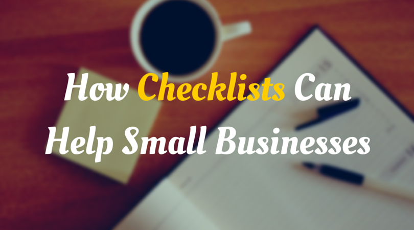 Checklists Help Small Businesses Header