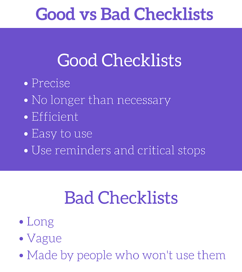 Business writing tips Good vs Bad Checklists