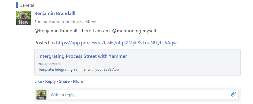 yammer @mentions