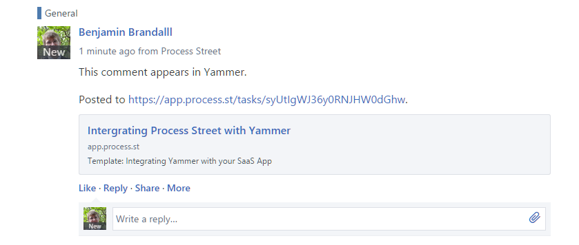 yammer comments