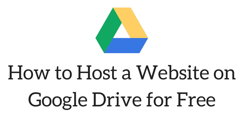 How to Host a Website on Google Drive for Free