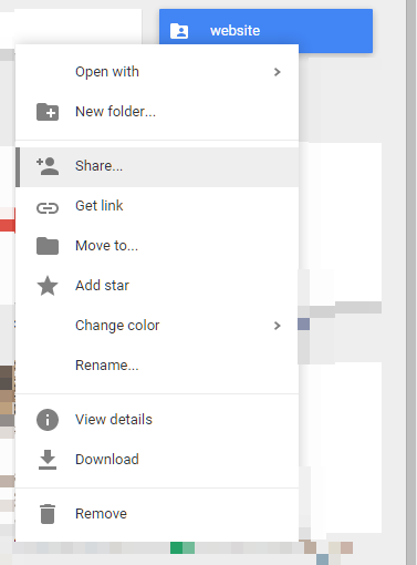 Hosting a website in Google Drive Sharing