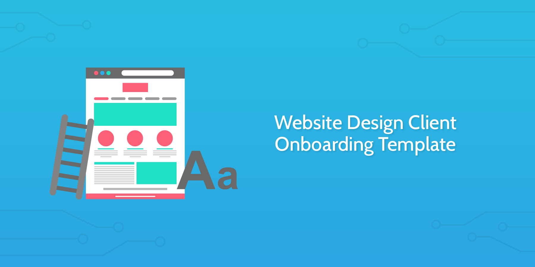 website design client onboarding template