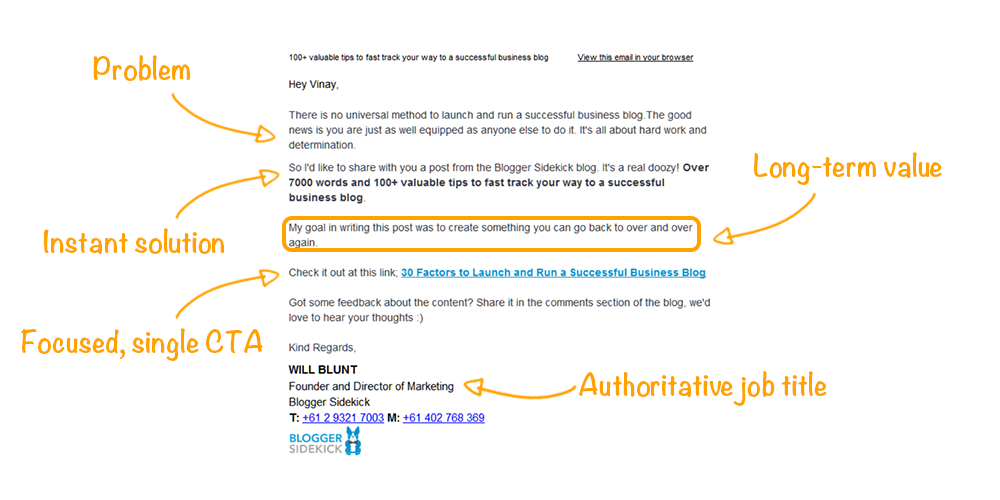 Blogger Sidekick Email Marketing Best Practices