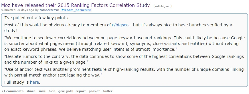 Moz Reddit Marketing