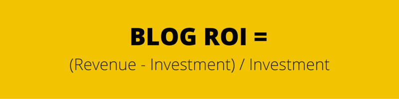 benefits of blogging ROI