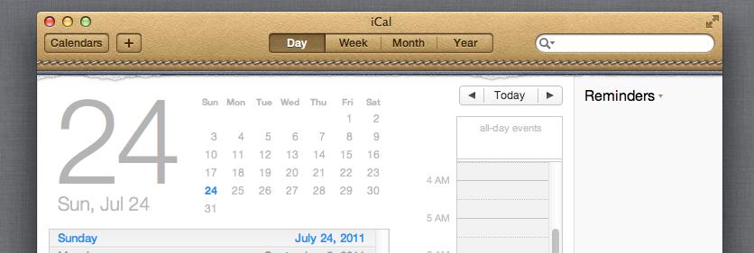 iCal Steve Jobs design