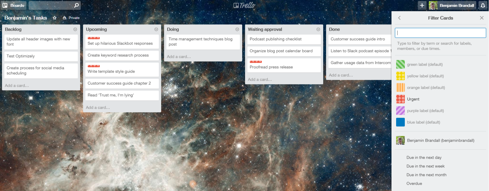 Trello task management