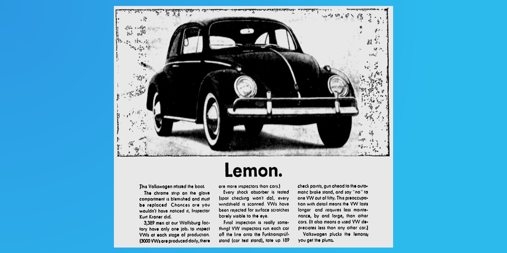 Lemon ad blue