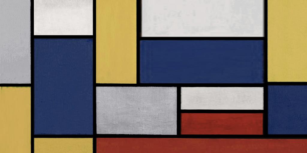 Mondrian flat design