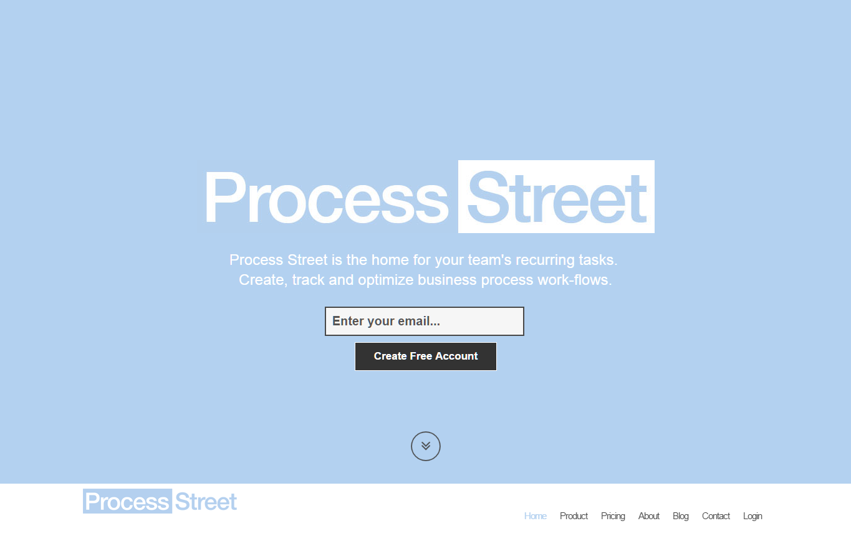 Process Street Landing Page 2014