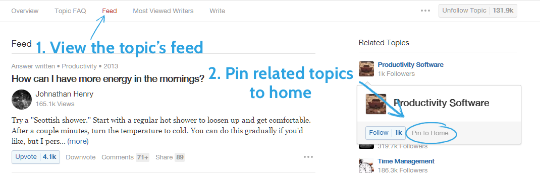 Quora Suggest Topics content ideas