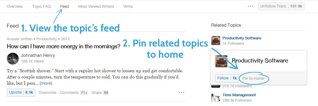 Quora Suggest Topics content ideas