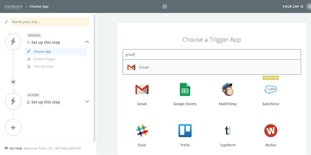 what is zapier choose trigger