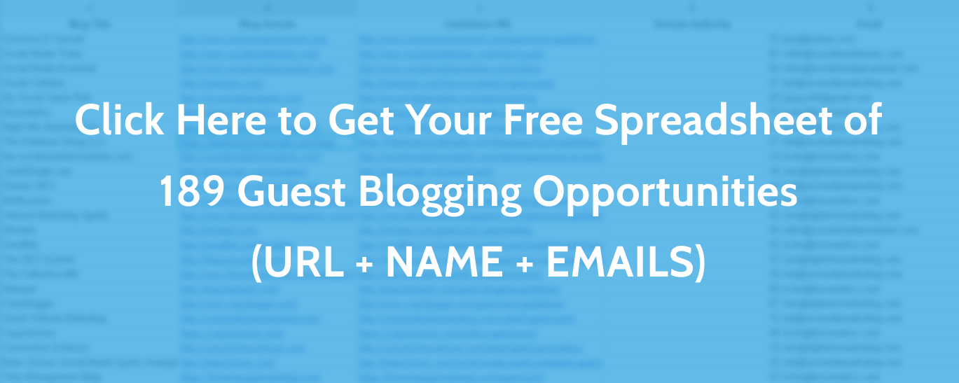Guest Blogging Opportunities Database