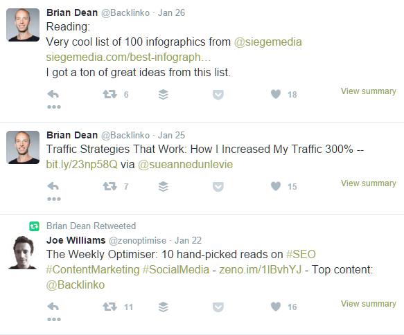 Brian Dean Tweets