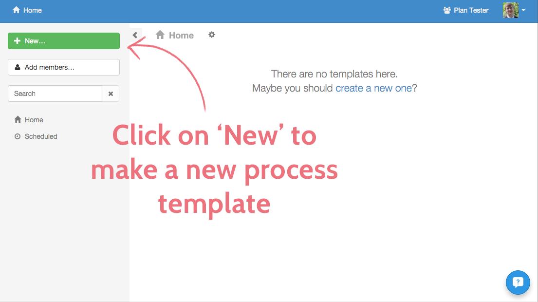 Create a template 1