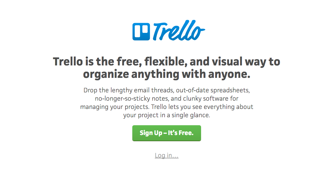 Trello landing page