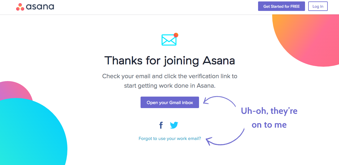 asana catches onto me