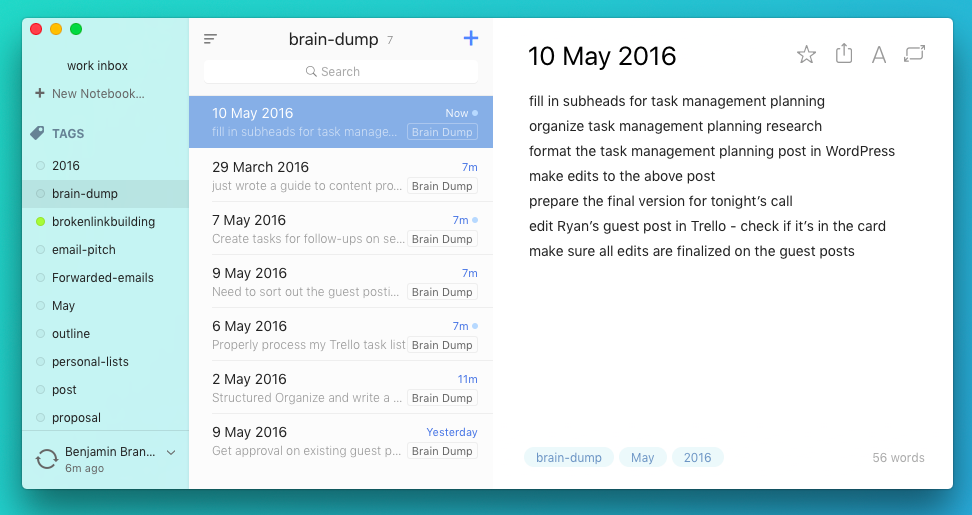 Alternote Task Management