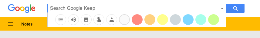 Google Keep Search