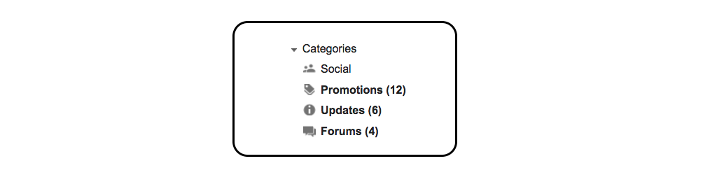 gmail tip #7: gmail categories side
