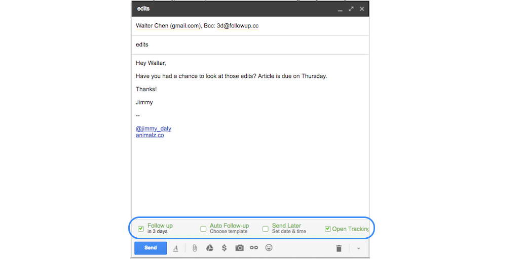 gmail tip #16: followup.cc