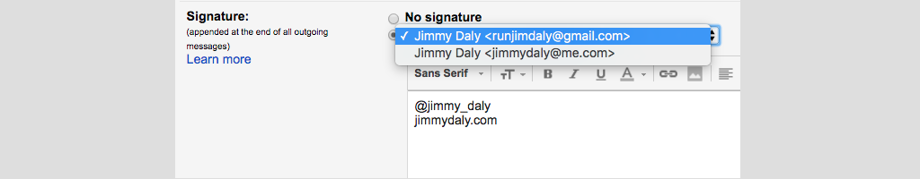 gmail tip #18: signatures