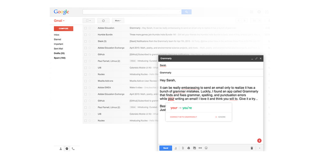 gmail tip #20: grammarly
