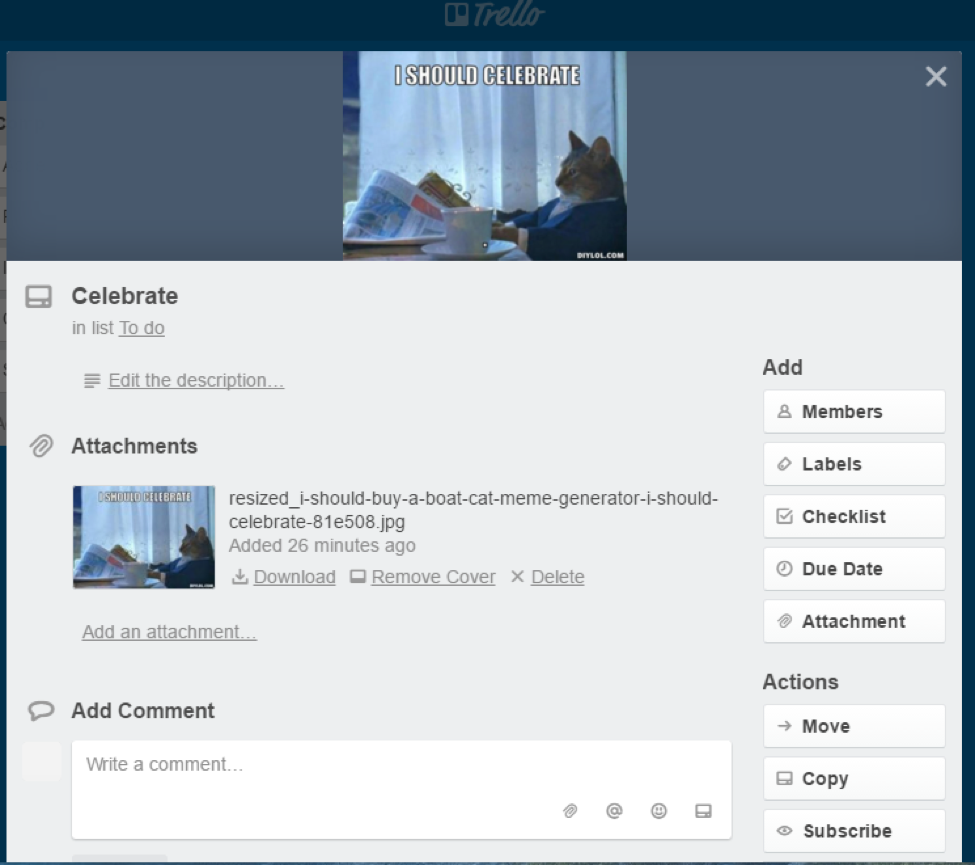 Trello Card View