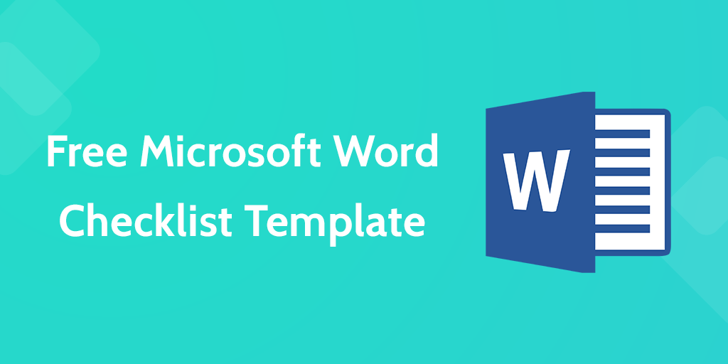 Checklist Template Word  Free Word Templates