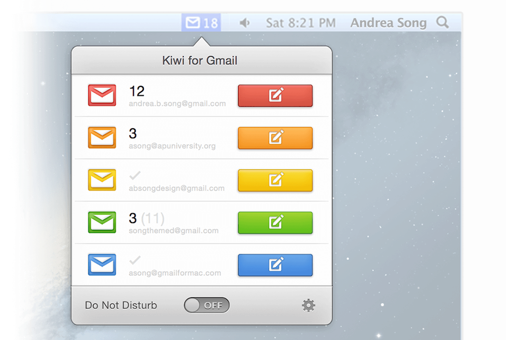 gmail tip #3: kiwi for gmail