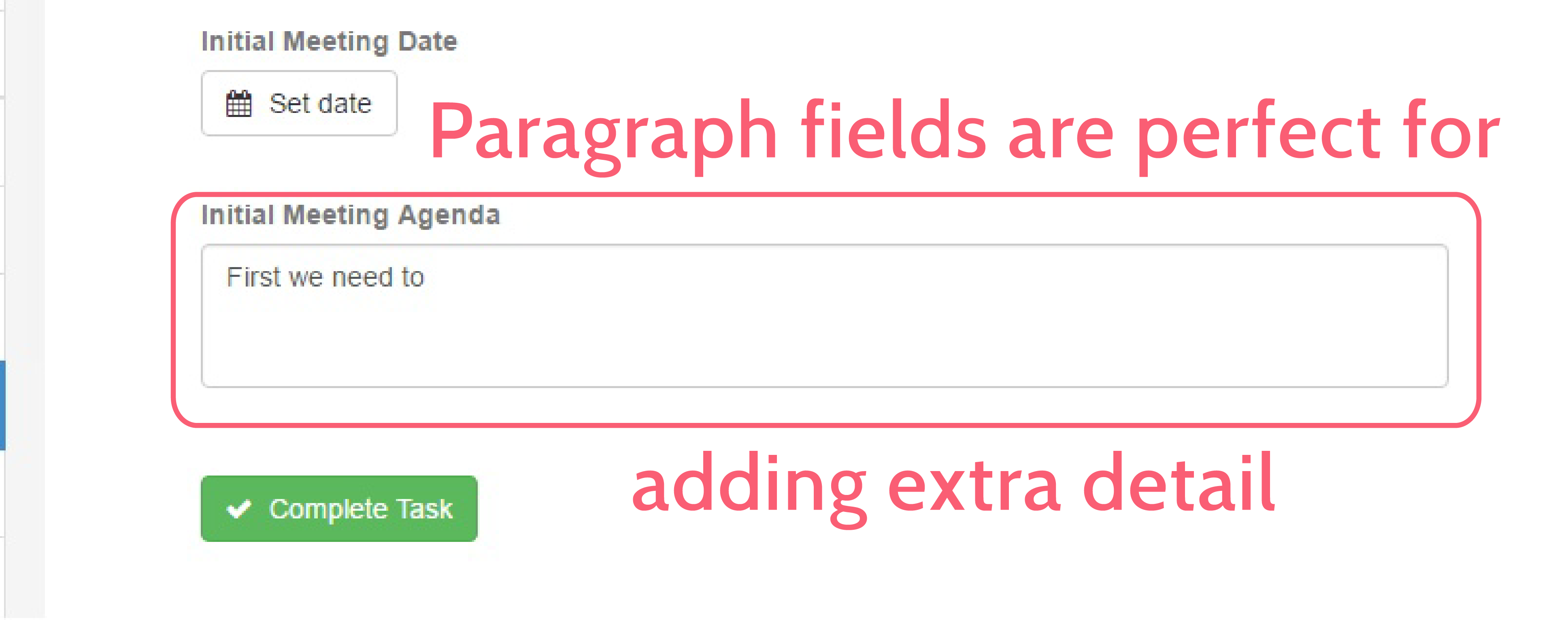 form automation - paragraph form field