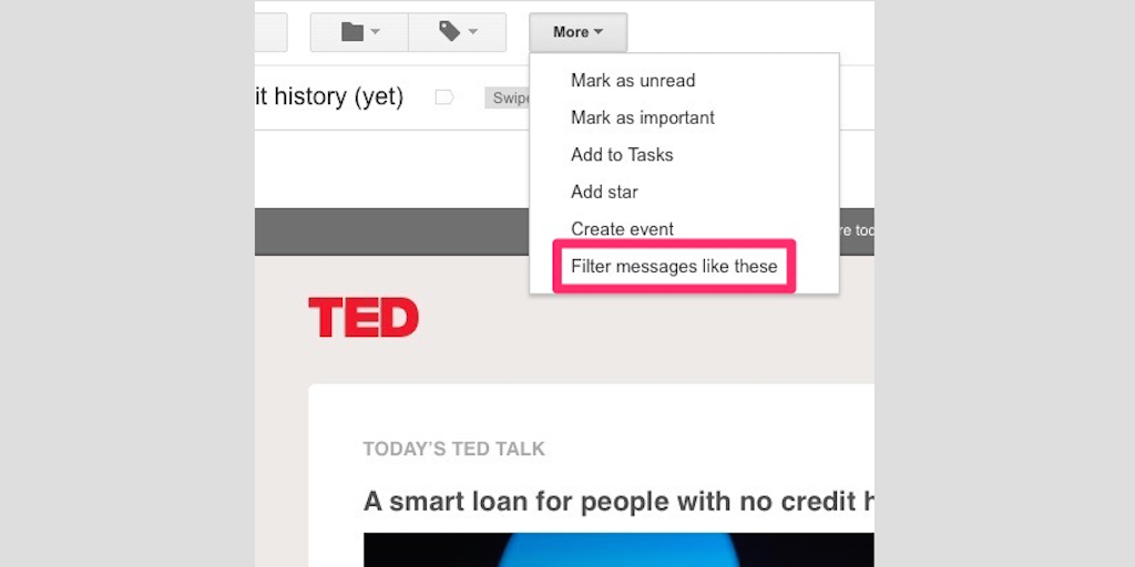 gmail tip #5: ted email