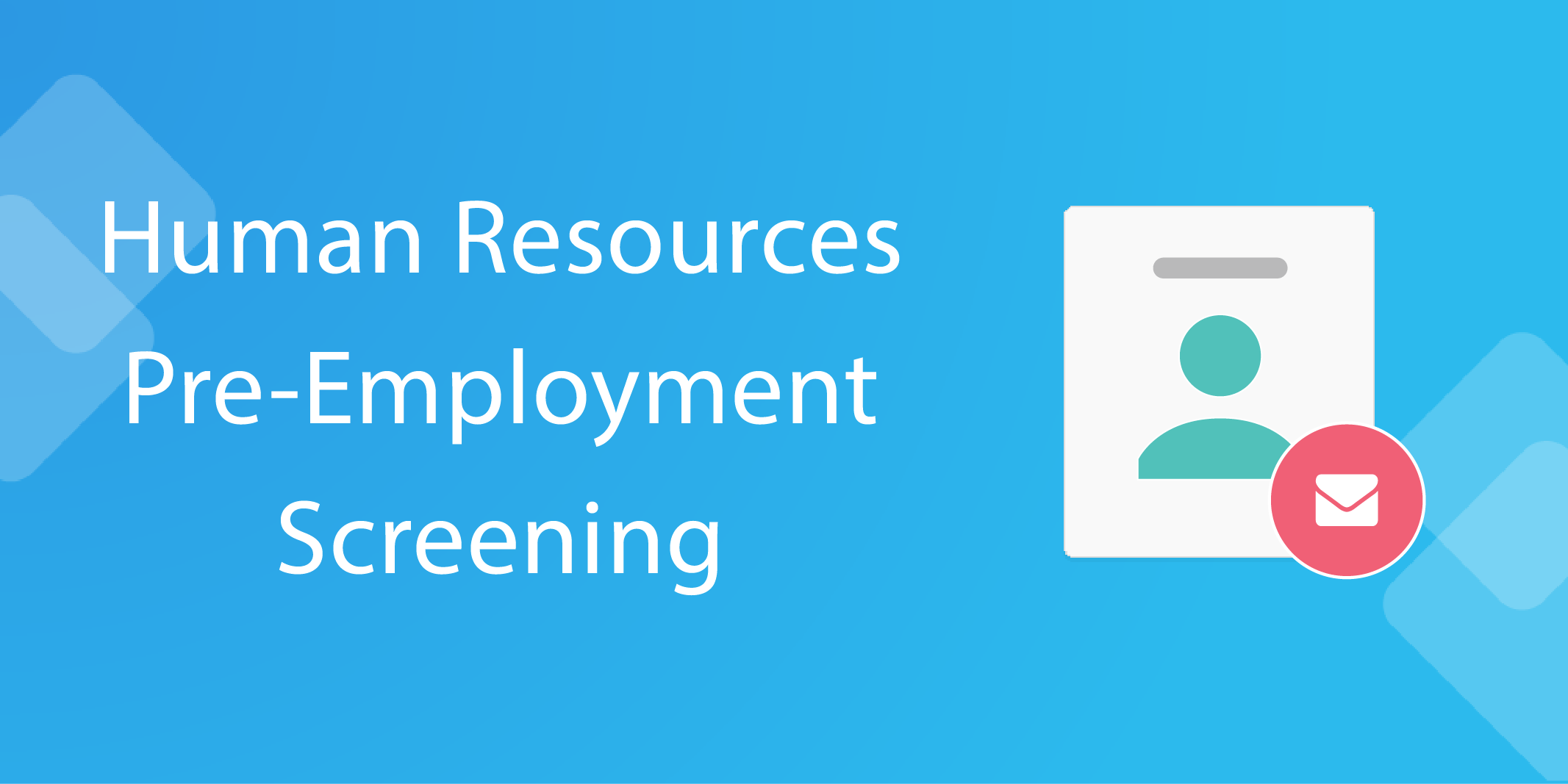 human resources pre-employment screening