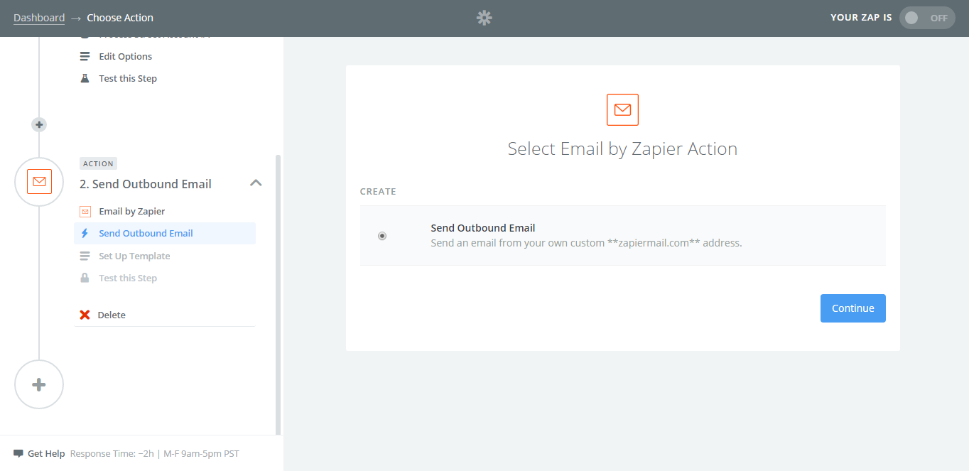 Choose Your Action  Create Invoices