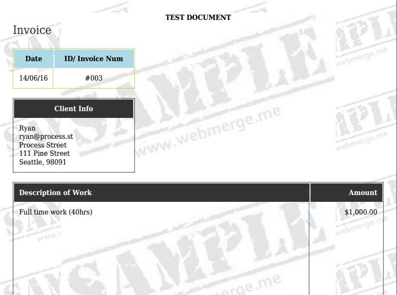 WebMerge Test