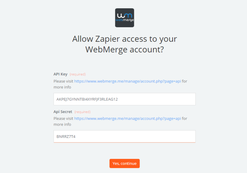 Link Your WebMerge Account