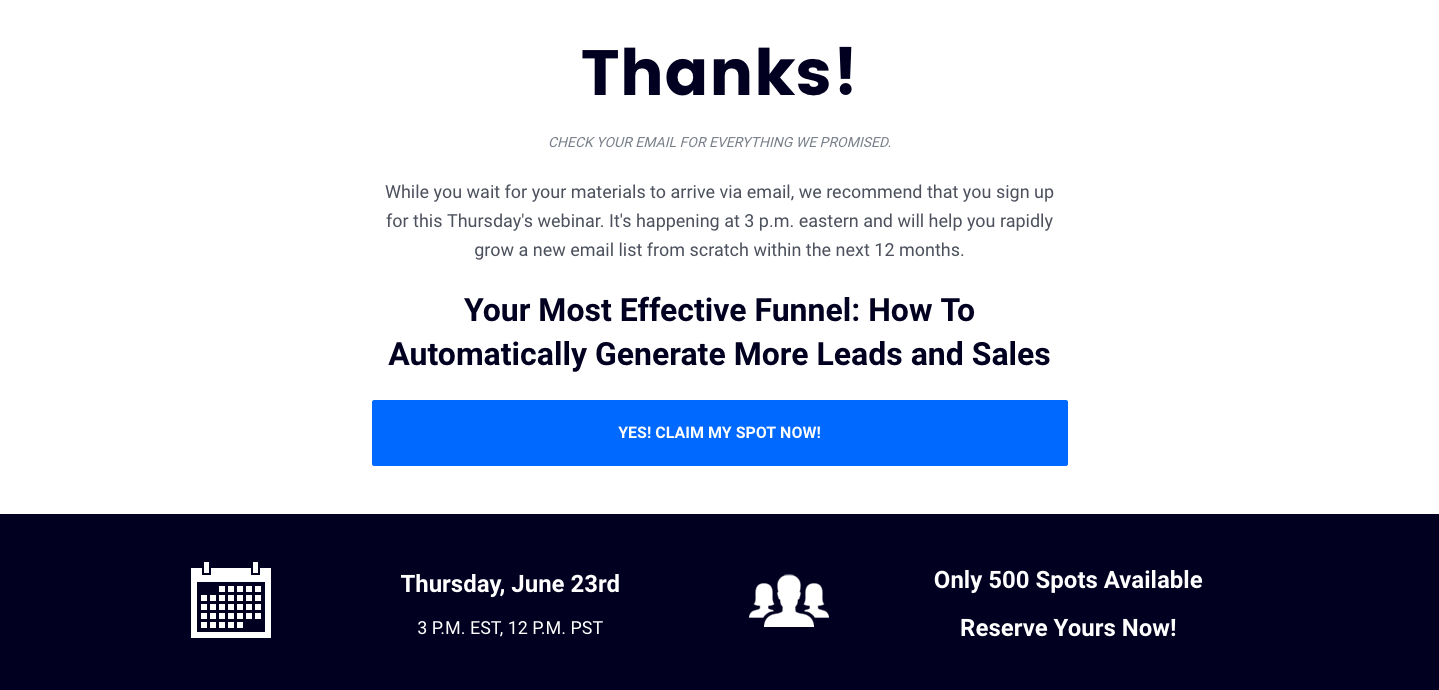 8 Easy Facts About Leadpages Thank You Page Explained