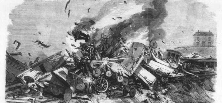 Painting of The Great Train Wreck of 1856