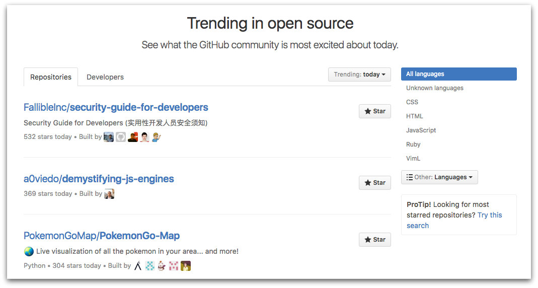 GitHub Open Source Projects-d